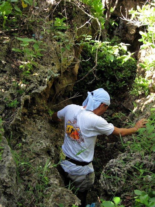 洞窟ポイント入り口